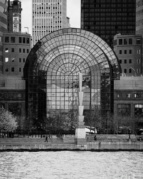 Usa Poster featuring the photograph Winter Garden At World Trade Financial Center New York City by Joe Fox