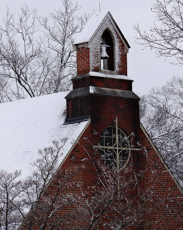 Church Poster featuring the photograph Winter In Dixie by Vicki Tinnon