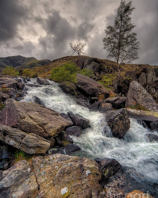 Capel Curig Poster featuring the photograph Winter Stream by Adrian Evans
