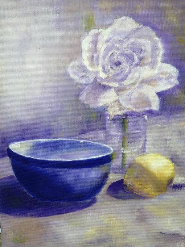 Still Life Poster featuring the painting Winter White by Dale Ducillo Lewinski