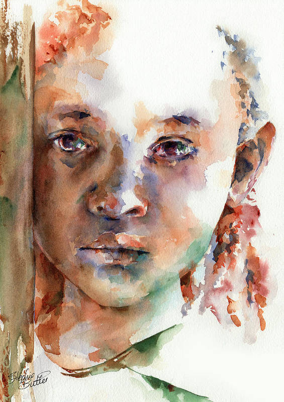 Girl Poster featuring the painting Wistful by Stephie Butler