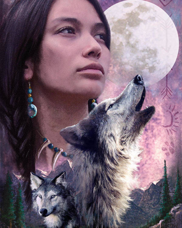 Adult Poster featuring the photograph Wolf Montage by Garry Walton