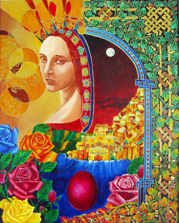 Spirituality Poster featuring the painting Woman Of Jerusalem by Dawnstarstudios
