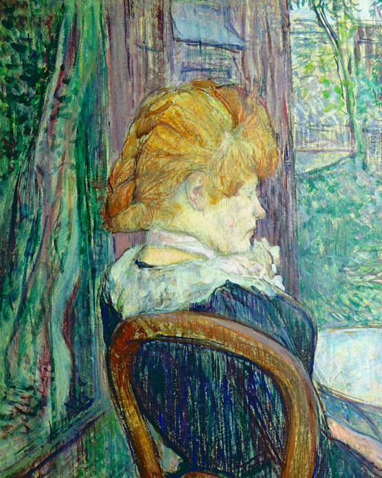 Toulouse-lautrec Poster featuring the painting Woman Sitting In A Garden by Henri de Toulouse-lautrec