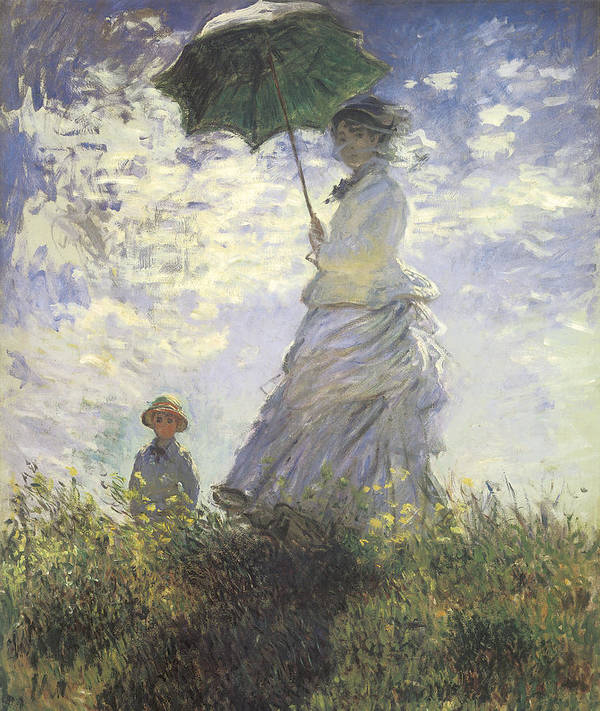 Woman With A Parasol Poster featuring the painting Woman With A Parasol by Claude Monet