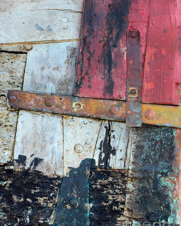 Detail Poster featuring the photograph Wood And Metal Abstract by Jill Battaglia