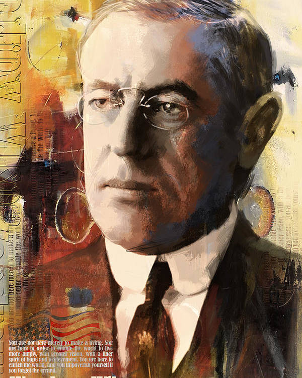 Woodrow Wilson Poster featuring the painting Woodrow Wilson by Corporate Art Task Force