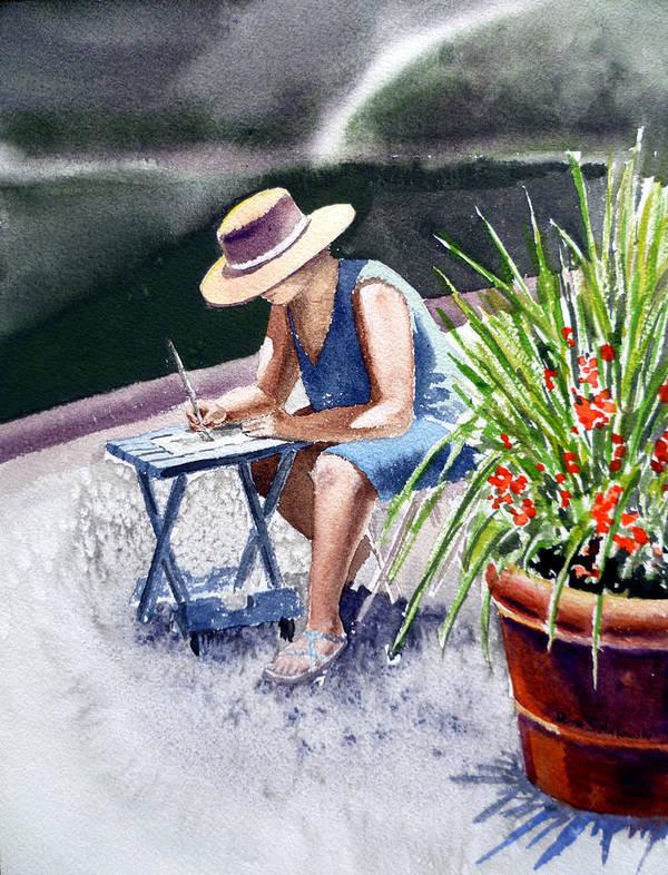 Artist Poster featuring the painting Working Artist by Irina Sztukowski