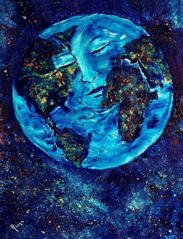 World Poster featuring the painting World Peace by Robin Monroe