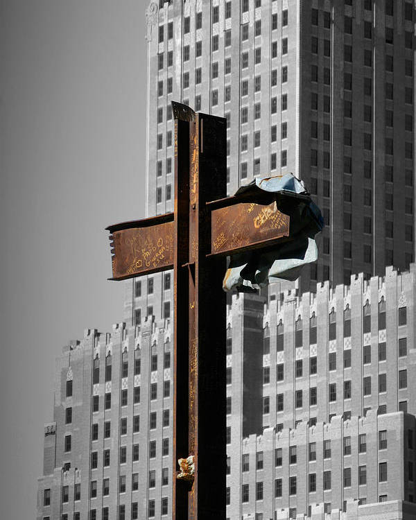 World Poster featuring the photograph World Trade Center Cross New York by Mathew Lodge