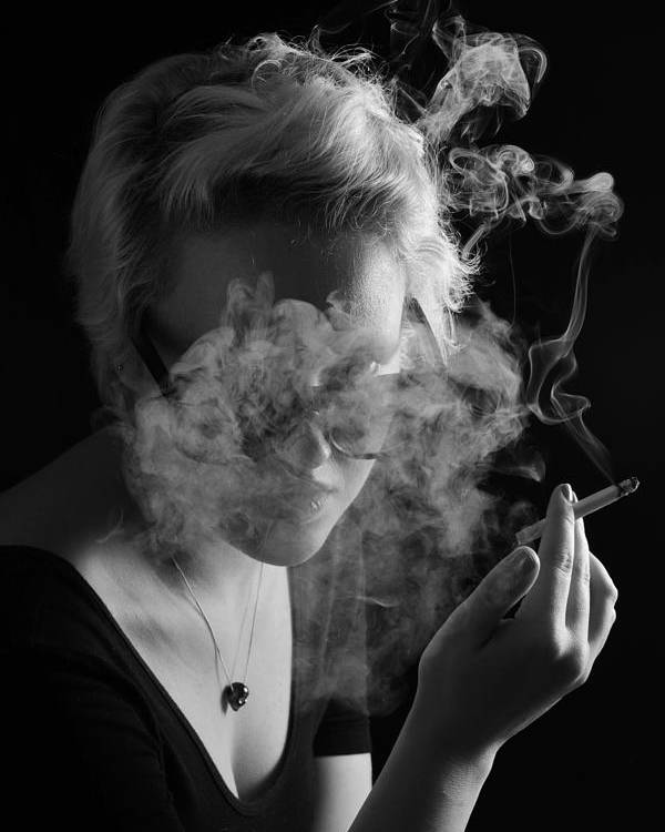 Smoke Poster featuring the photograph Wreathed In Smoke by John B Poisson
