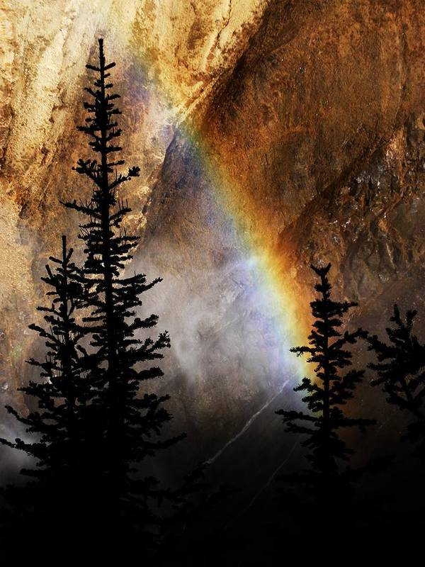 Yellowstone Poster featuring the photograph Yellowstone Rainbow by Indigo Wild Photography