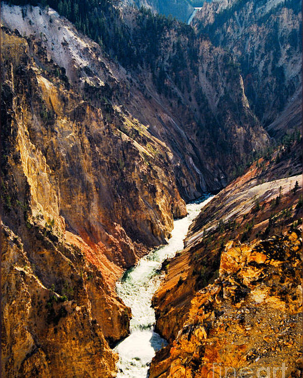 Yellowstone Poster featuring the photograph Yellowstone River by Kathy McClure