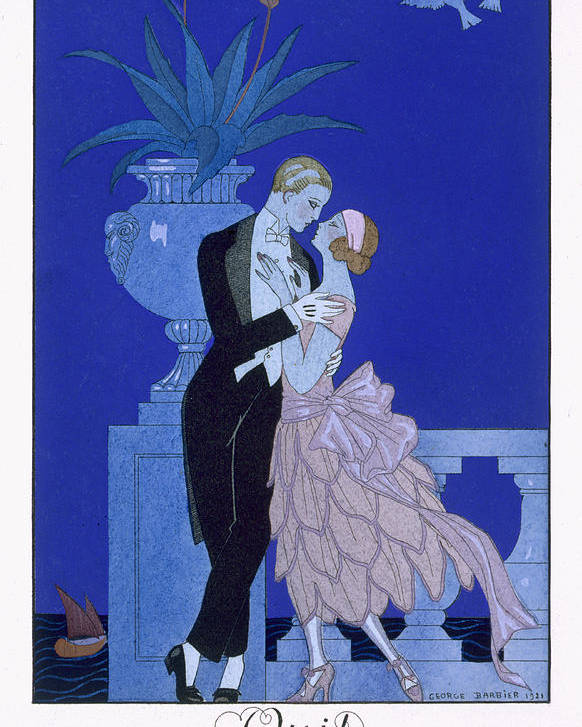 The Kiss Poster featuring the painting Yes by Georges Barbier