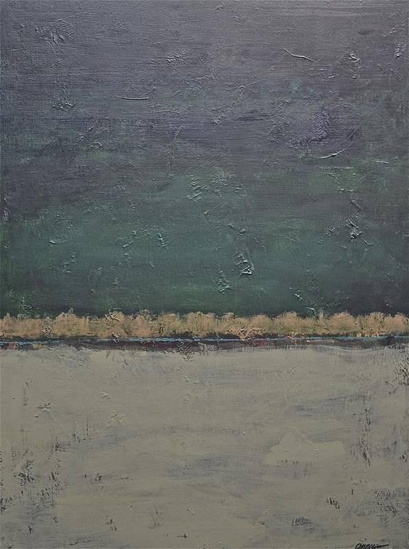 Rectangular Poster featuring the painting Yonder Creek by Jim Ellis