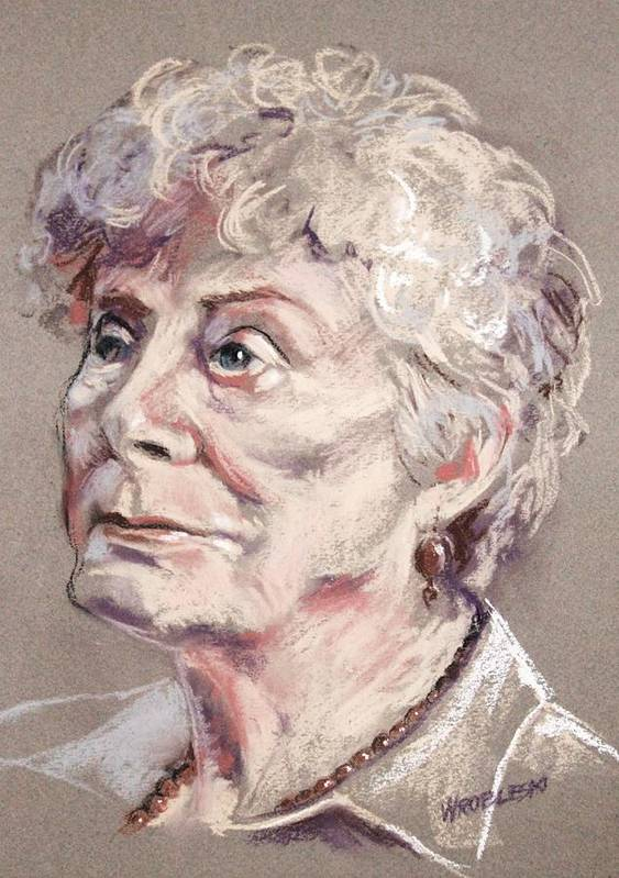 Pastel Poster featuring the painting Young At Heart by Peggy Wrobleski