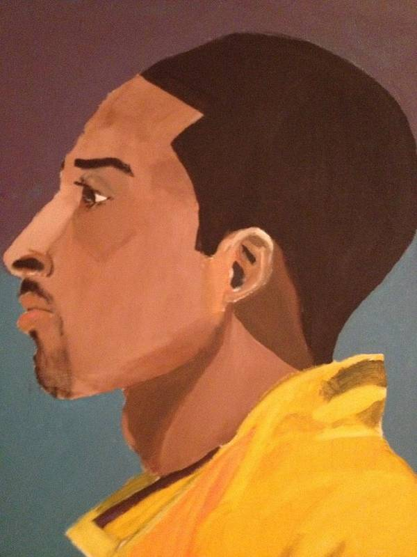 Sports Poster featuring the painting Young Mamba by Brandon King