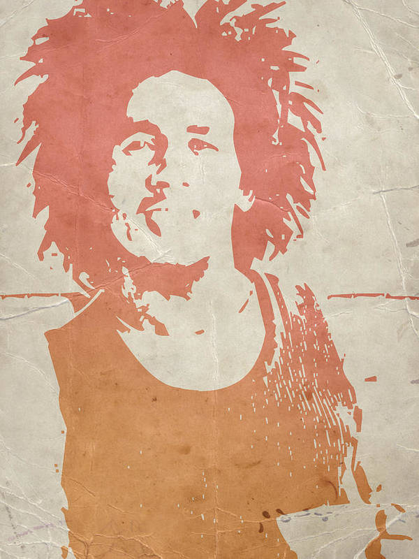Poster featuring the painting Bob Marley Brown by Naxart Studio