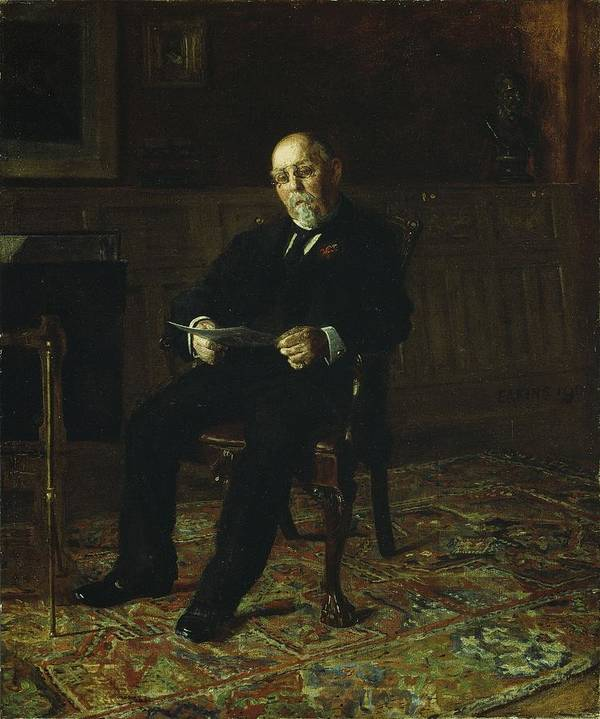 Robert Poster featuring the painting Robert M. Lindsay by Thomas Cowperthwait Eakins