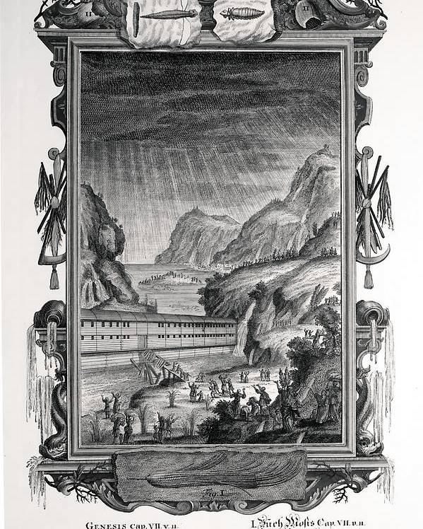Ark Poster featuring the photograph 1731 Johann Scheuchzer Noah's Ark Flood by Paul D Stewart