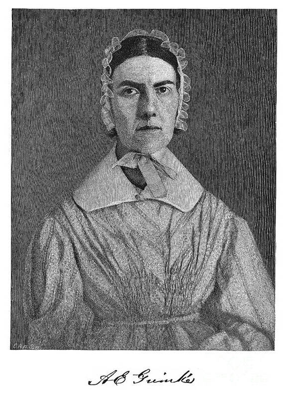 19th Century Poster featuring the photograph Angelina Emily Grimke by Granger