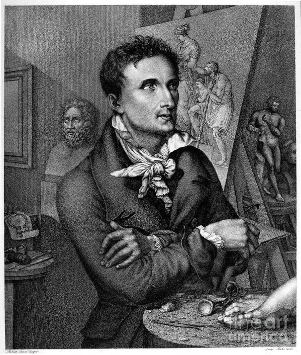 18th Century Poster featuring the photograph Antonio Canova (1757-1822) by Granger