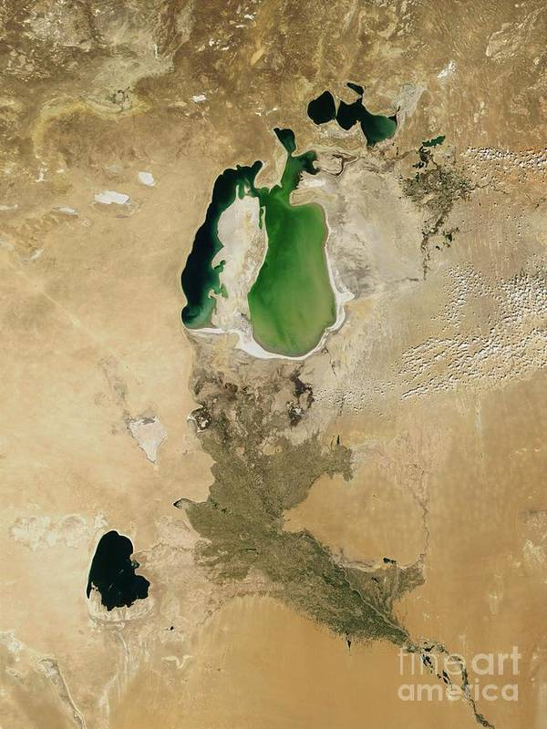Aral Sea Poster featuring the photograph Aral Sea by NASA / Science Source