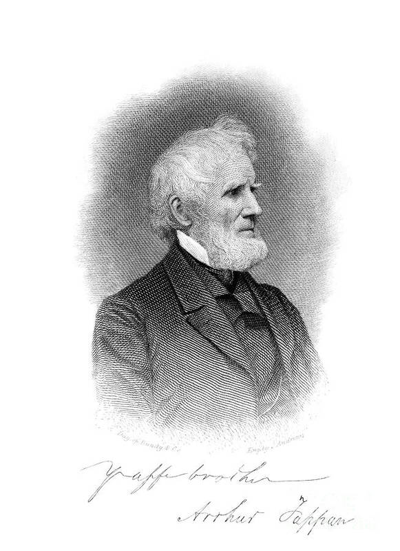 1860s Poster featuring the photograph Arthur Tappan (1786-1865) by Granger