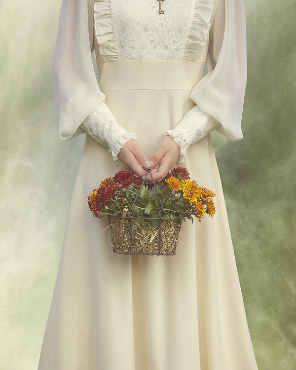 Chrysanthemum Poster featuring the photograph Basket With Flowers by Joana Kruse