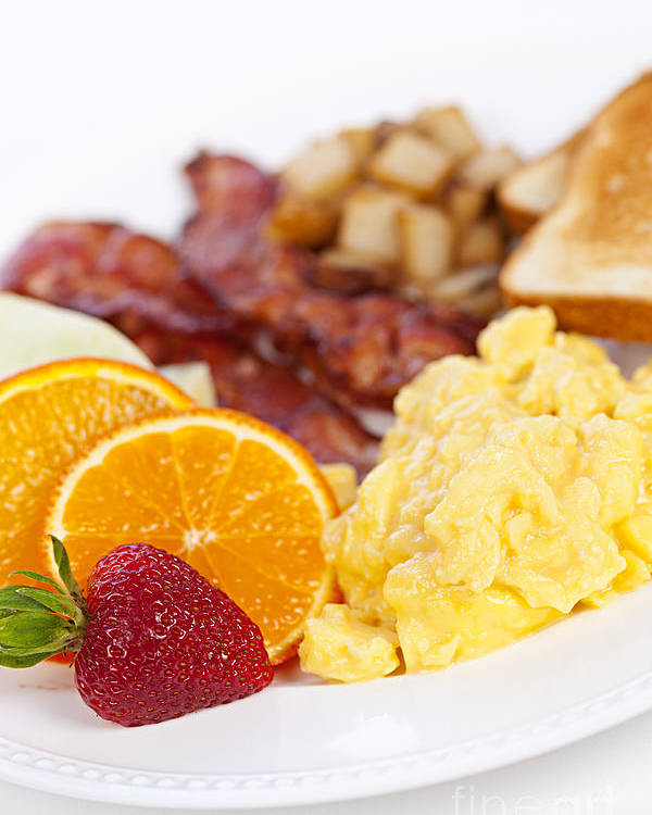 Breakfast Poster featuring the photograph Breakfast by Elena Elisseeva