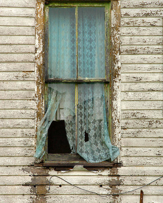 Window Poster featuring the photograph Broken Window In Abandoned House by Jill Battaglia