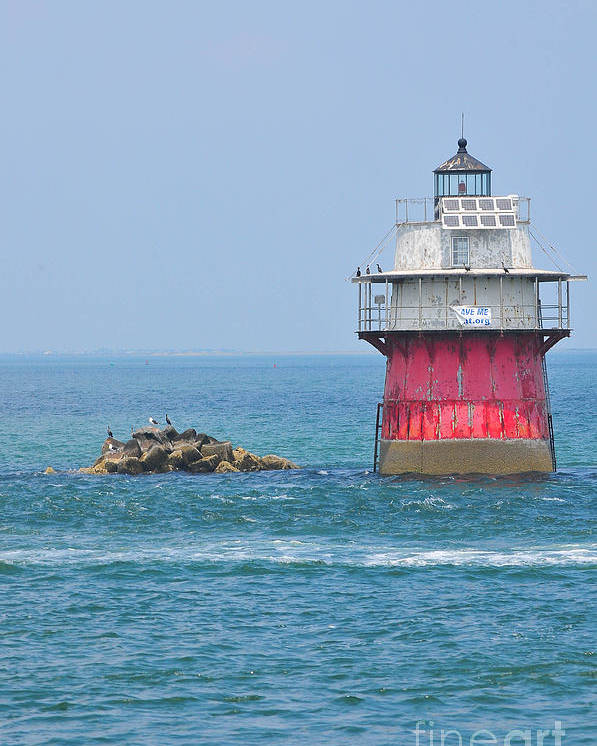 Plymouth Ma Photograph Poster featuring the photograph Bug Light by Catherine Reusch Daley