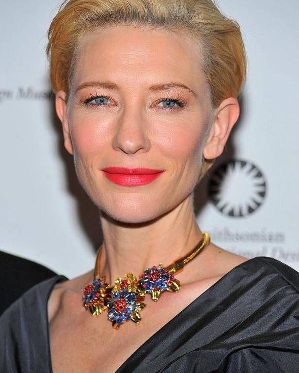 Cate Blanchett Poster featuring the photograph Cate Blanchett Wearing A Van Cleef & by Everett