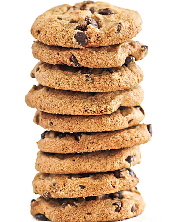 Cookies Poster featuring the photograph Chocolate Chip Cookies by Elena Elisseeva