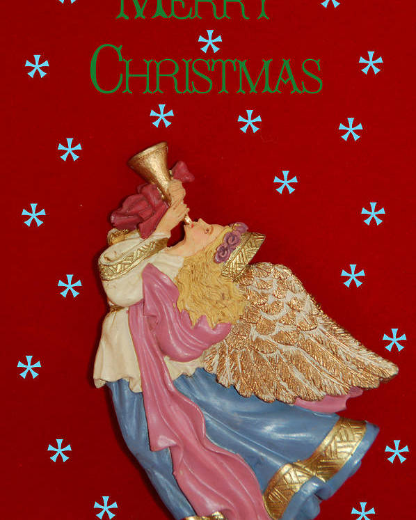 Christmas Card Poster featuring the photograph Christmas Angel by Aimee L Maher Photography and Art Visit ALMGallerydotcom