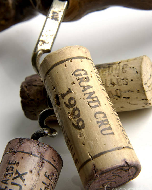 Cork Poster featuring the photograph Corks Of French Wine by Bernard Jaubert