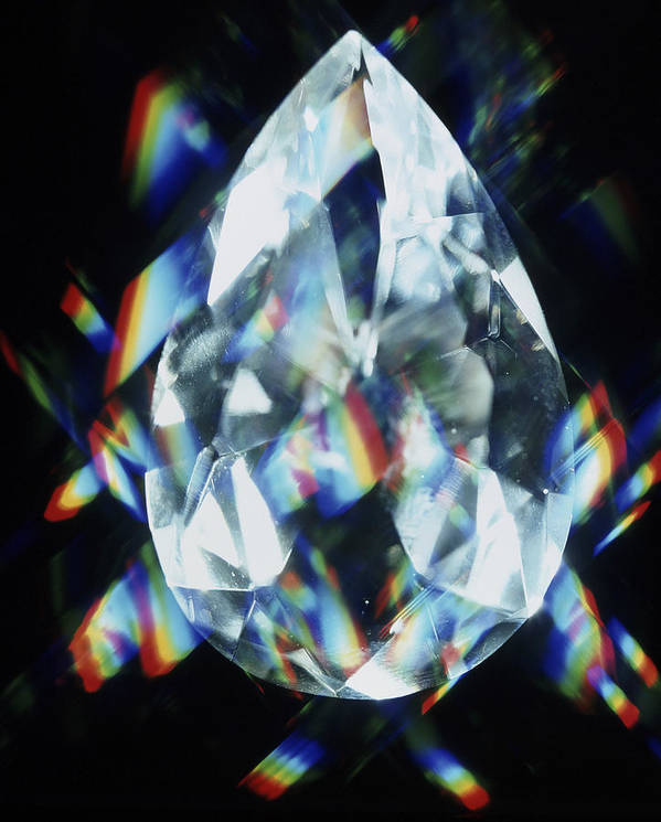 Diamond Poster featuring the photograph Cut And Polished Diamond by Pasieka