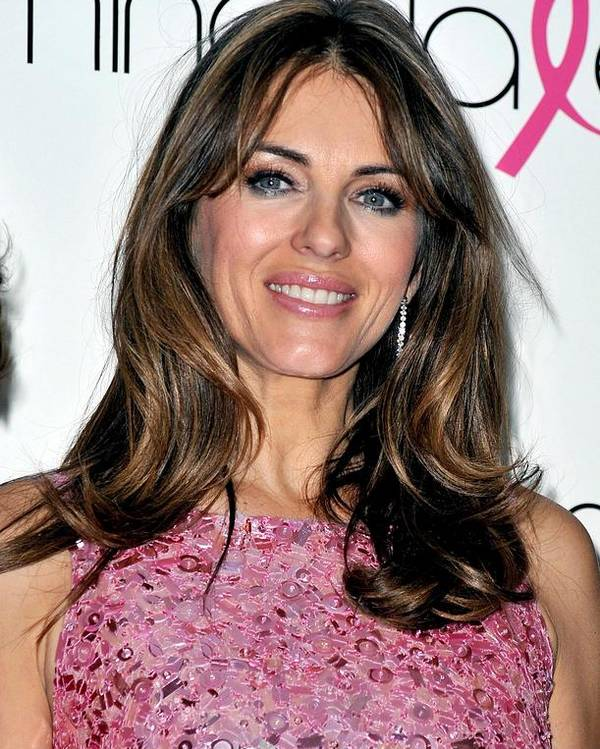 Elizabeth Hurley Poster featuring the photograph Elizabeth Hurley At A Public Appearance by Everett