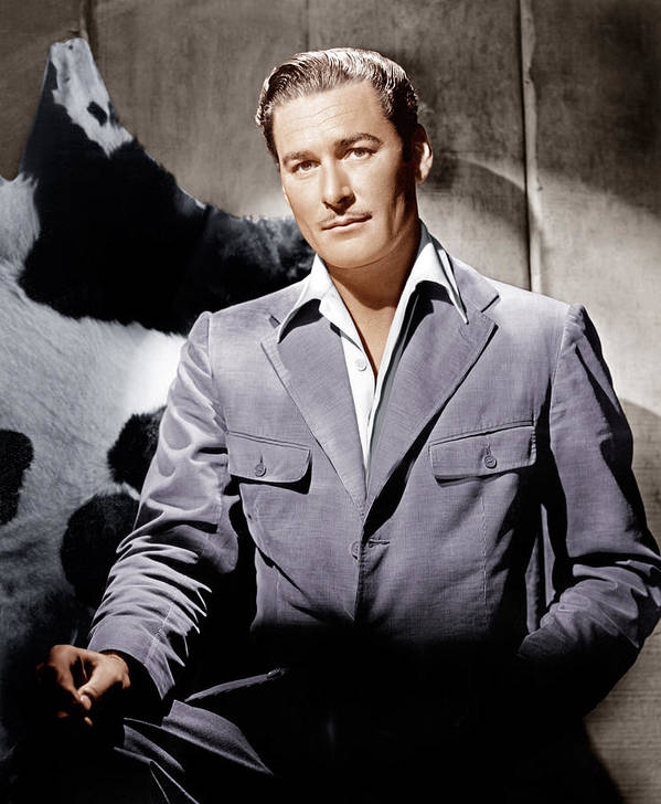 1940s Portraits Poster featuring the photograph Errol Flynn, Ca. 1940s by Everett