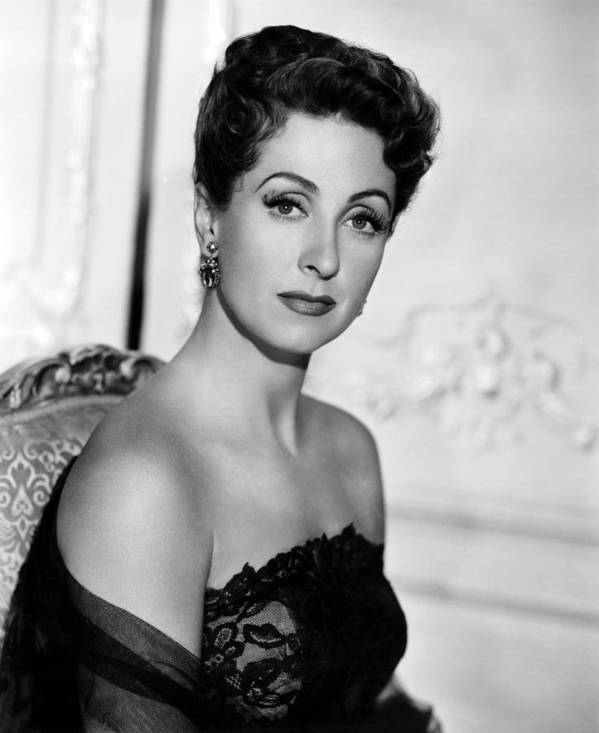 1950s Portraits Poster featuring the photograph Five Fingers, Danielle Darrieux, 1952 by Everett