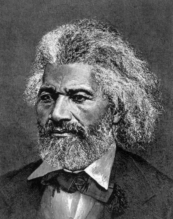 19th Century Portrait Poster featuring the photograph Frederick Douglass Ca. 1817-1895 by Everett