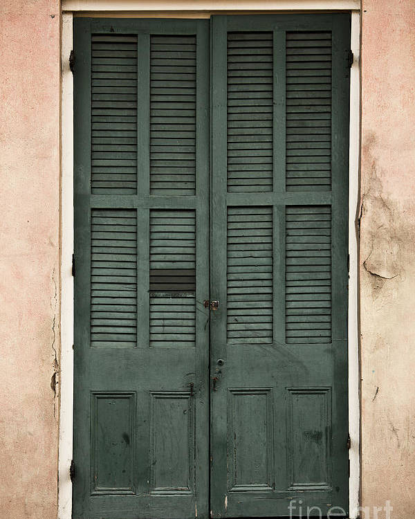 New Orleans Poster featuring the photograph French Quarter Doors by Leslie Leda