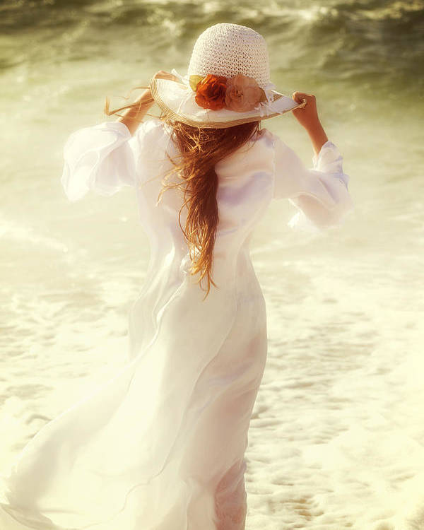 Girl Poster featuring the photograph Girl With Sun Hat by Joana Kruse