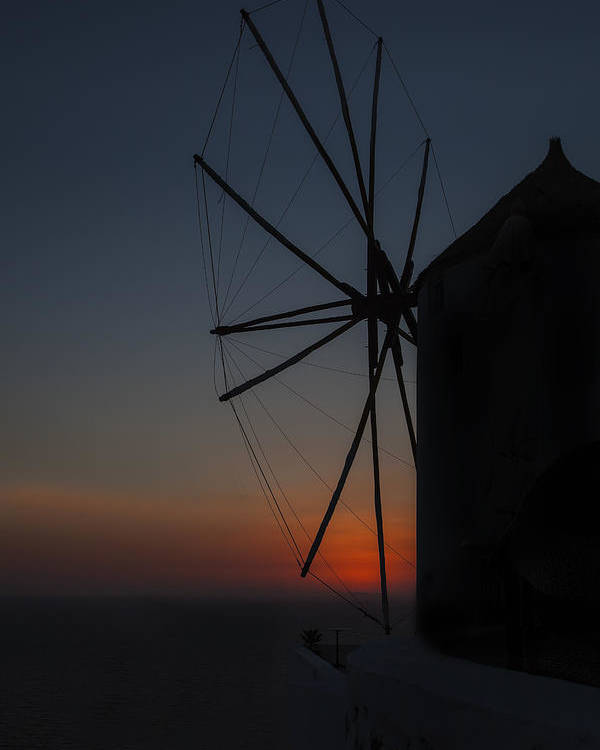 Mill Poster featuring the photograph Greek Windmill by Joana Kruse