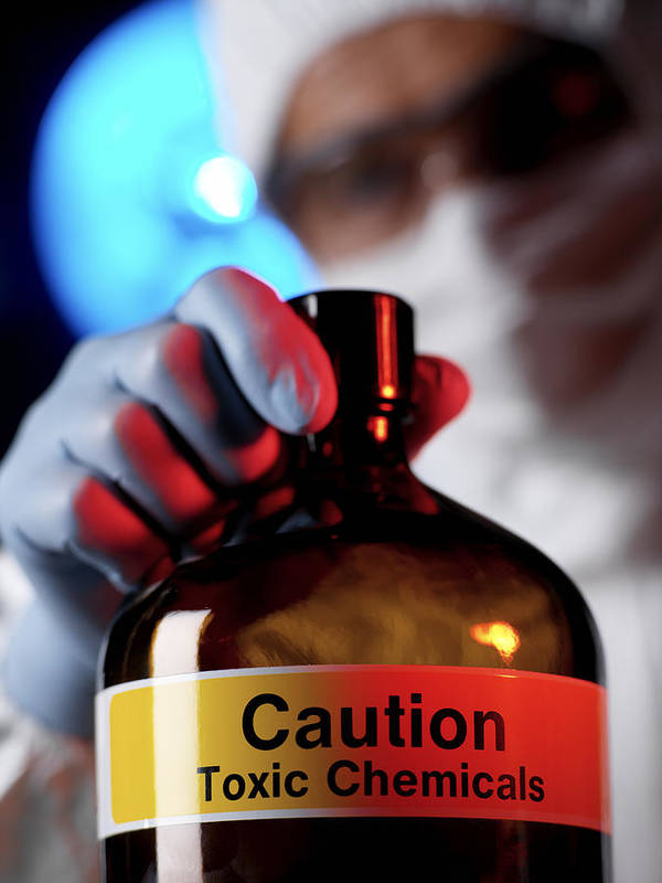 Human Poster featuring the photograph Hazardous Chemical by Tek Image