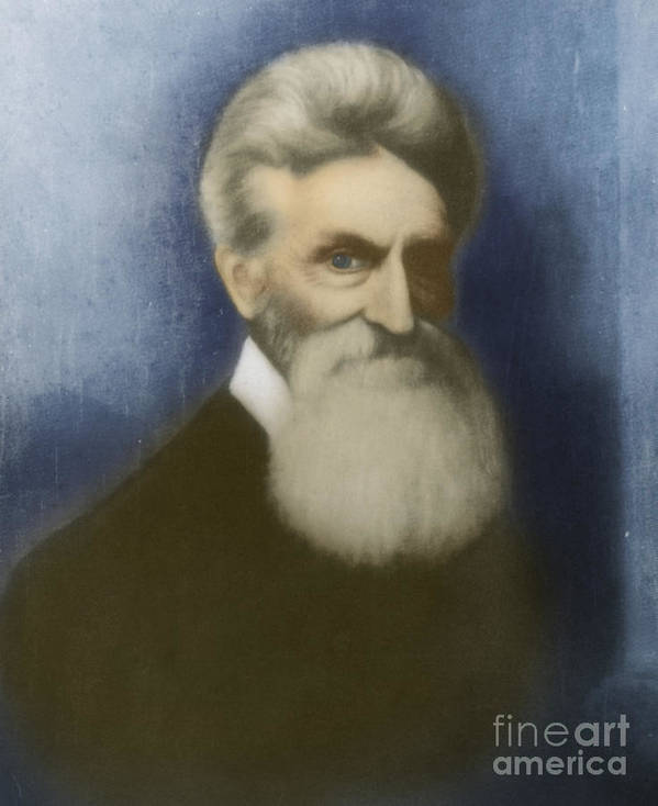 John Brown Poster featuring the photograph John Brown, American Abolitionist by Photo Researchers