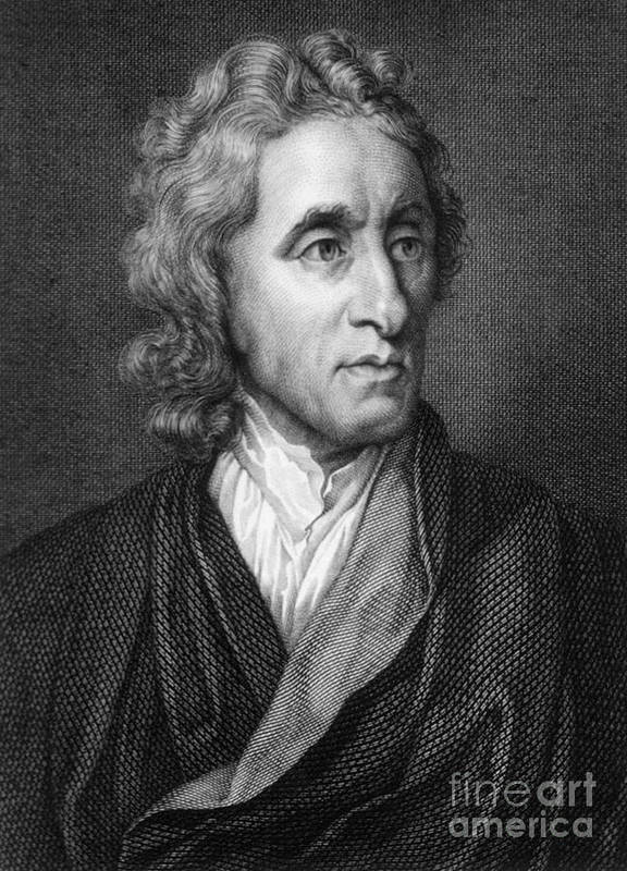 Science Poster featuring the photograph John Locke, English Philosopher, Father by Science Source