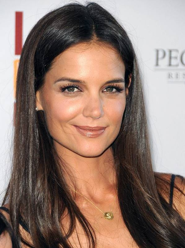 Katie Holmes Poster featuring the photograph Katie Holmes Wearing A Jennifer Meyer by Everett