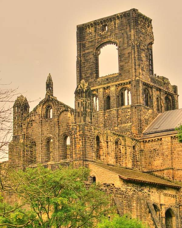 Kirkstall Poster featuring the photograph Kirkstall Abbey by Jacqui Kilcoyne