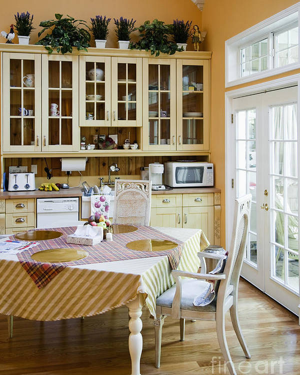 Appliances Poster featuring the photograph Kitchen Cabinets And Table by Andersen Ross